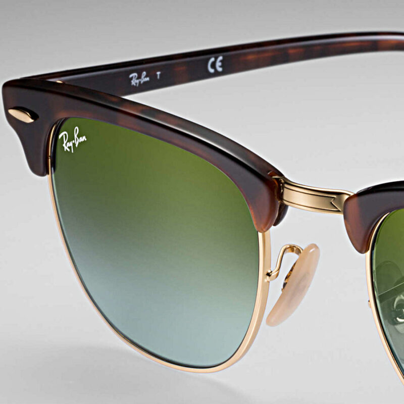 RAY-BAN Clubmaster Flash Habana Verde RB3016 990/9J (53)