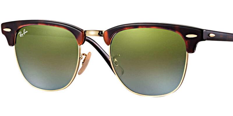 Compra gafas de sol RAYBAN Clubmaster Flash Habana Verde en la tienda online de gafas de sol Lunic Opticas Vigo