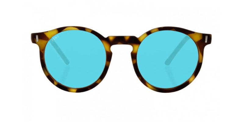 Comprar gafas de sol TIWI Antibes Green Tortoise Blue Lenses antirreflejos en la tienda online de gafas de sol Lunic Opticas Vigo