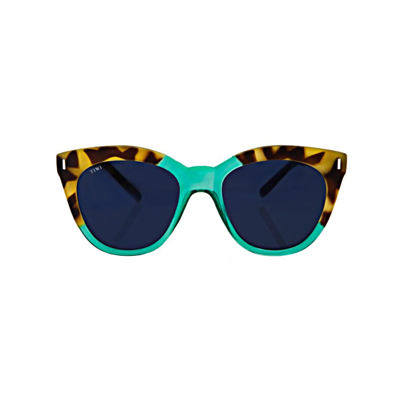 TIWI Lune Bicolour Green/Tortoise with Blue Lenses