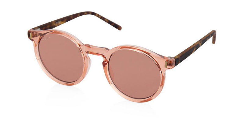 Gafas de sol mujer TIWI Antibes Shiny Pink with pink lenses