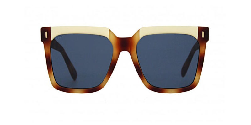 Gafas de sol mujer TIWI Kelly Rubber bicolor Habaha Beige con lentes azules