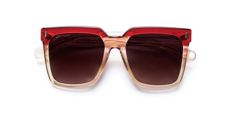 Gafas de sol para mujer TIWI Kelly bicolour Pink red with burgundy lenses (frontal)