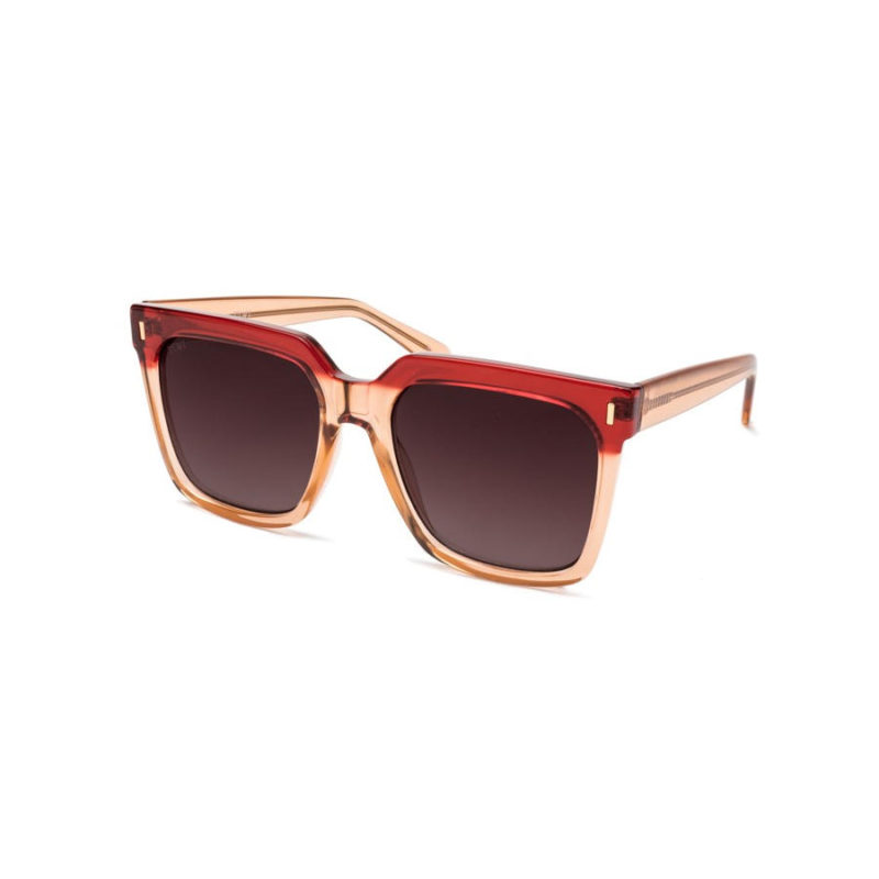 TIWI Kelly Shiny Bicolour Pink Red with Burgundy Grandient lenses