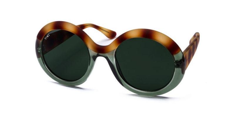 Gafas de sol mujer TIWI Lissa bicolour Green Havana Green Lenses (lateral)
