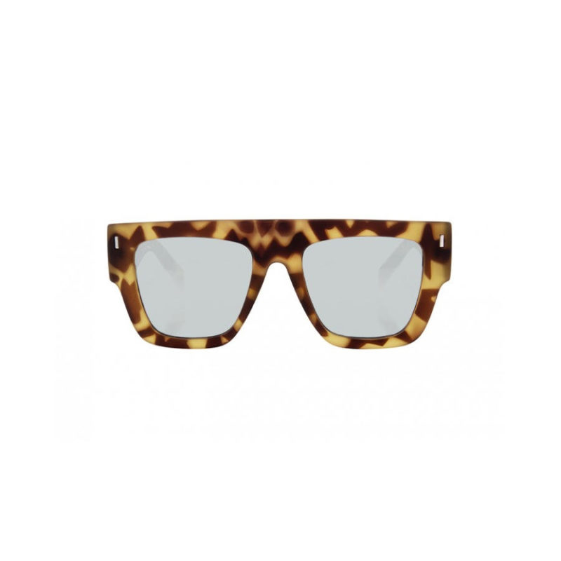 TIWI Soleil Rubber Green Tortoise with Silver Mirrored lenses