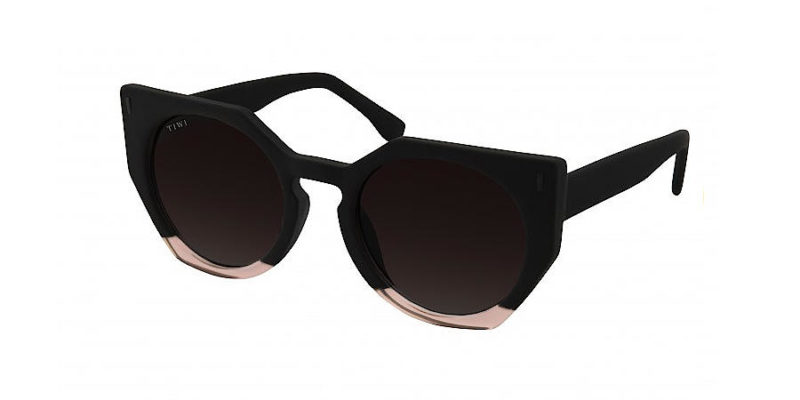 Gafas de sol para mujer TIWI Venus bicolour Black Pink with burgundy lenses (lateral)
