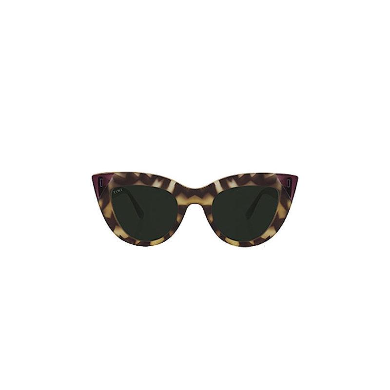 TIWI Yunon Rubber Green Tortoise / Shiny Lavander with Green lenses
