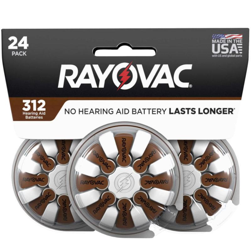 RAYOVAC Pack de 3 blister (24 unidades) de pilas para audífonos tamaño 13 color marrón